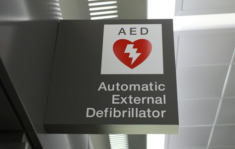 Automatic external defibrillator (AED) sign