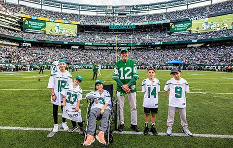 Goryeb patients at NY Jets Crucial Catch game