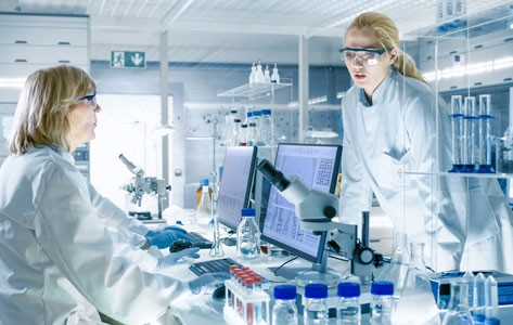 Medical researchers in the lab