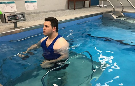 Matt Eisenbud in therapy pool