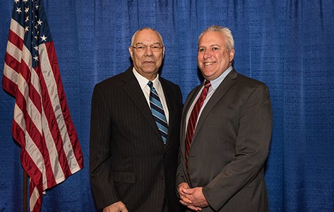 Dr. Steven Sheris with Colin Powell