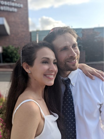 Laura and Daniel were married at Overlook Medical Center