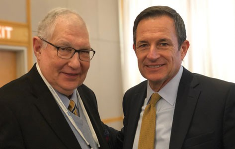 Bob Mulcahy with Atlantic Health CEO Brian Gragnolati