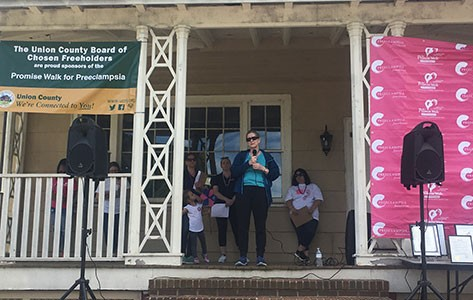 Colleen Coughlin speaks at Promise Walk for preeclampsia
