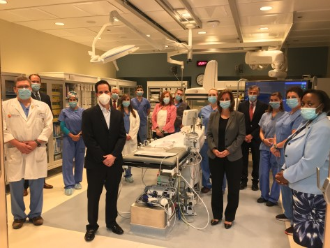Newton Medical Center's Cardiac Cath Team and Leadership Celebrate Launch of PCI Program