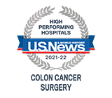 U.S. News & World Report high performing colon cancer surgery