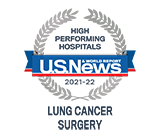 US News High Performing Lung Cancer Surgery