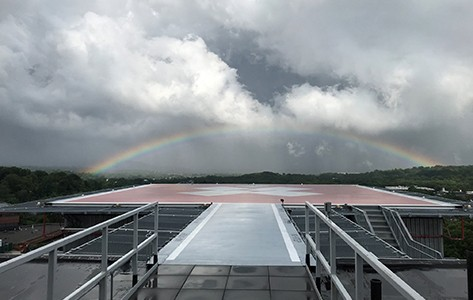 Rainbow over Overlook helipad