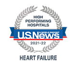Recognized as High Performing Hospitals for Heart Failure by US News
