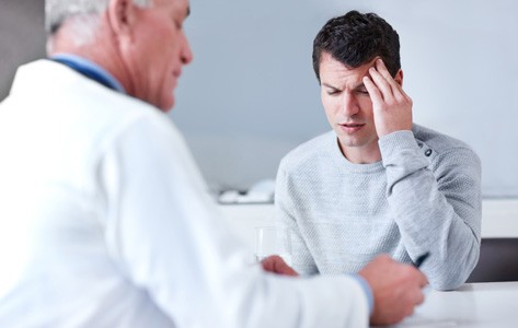 man complains of concussion to doctor