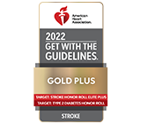 Stroke Gold Plus Quality Achievement Award with Target: Stroke Honor Roll Elite Plus