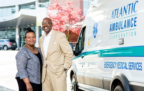 Barry and wife Atlantic Ambulance