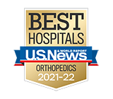 Morristown Medical Center is a Best Hospital for orthopedics per U.S. News and World Report.