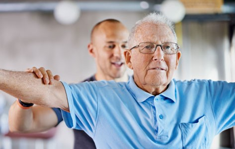 COPD patient in pulmonary rehab