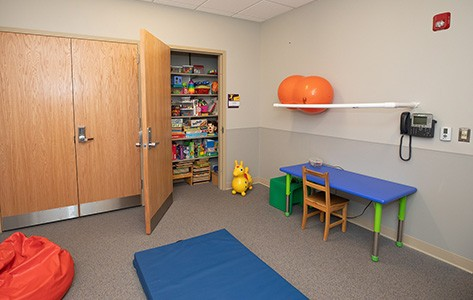 Pediatric physical therapy room at 55 Madison