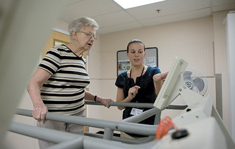Physical therapy using treadmill