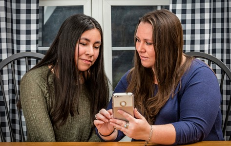 mother and daughter preparing for telemedicine