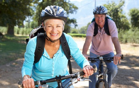 Older adults biking