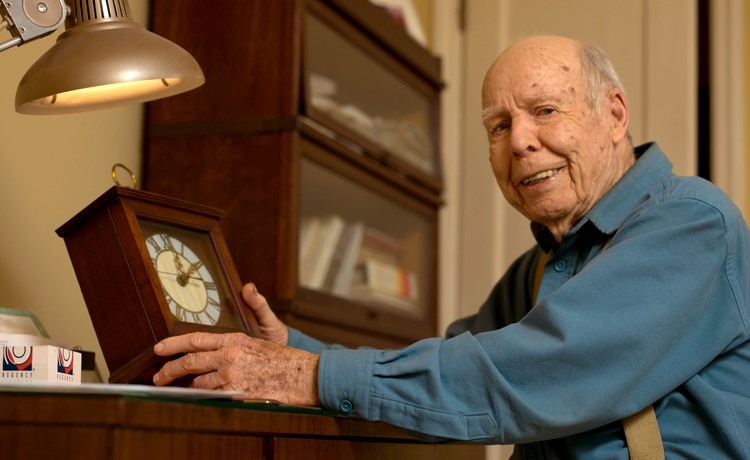 Walter repairs clock after heart surgery